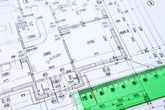Plan de suelo del edificio. Foto de archivo libre de regalías