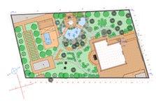 Plan de terre de jardin Images stock