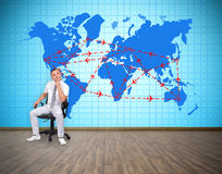 Plan de transports aériens Image libre de droits