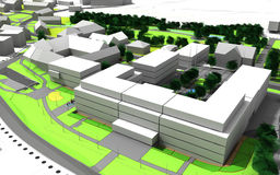 Plan de ville Images libres de droits