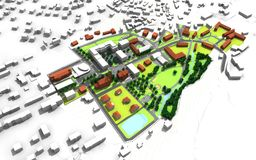 Plan de ville Image stock