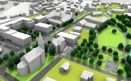Plan de ville Photographie stock