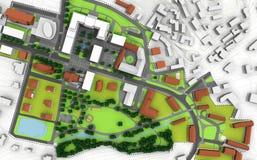 Plan de ville Photos libres de droits