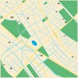 Plan de ville imaginaire Images stock