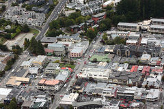 Plan de ville, Queenstown Photographie stock