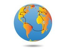 Plan de voyage de la terre Photographie stock libre de droits