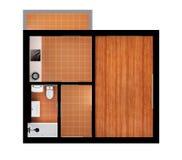 plan del apartamento 3d ilustración del vector