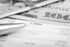 Plan del dólar y del préstamo Imágenes de archivo libres de regalías