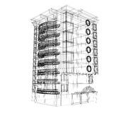 plan del edificio 3d libre illustration