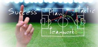 Plan del fútbol Foto de archivo libre de regalías