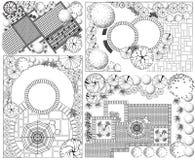 Plan del paisaje del od de las colecciones ilustración del vector