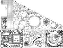 Plan del paisaje del od de las colecciones con símbolos de la copa ilustración del vector