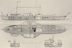 Plan del vapor de paleta Fotos de archivo