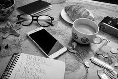 Plan del viaje Fotos de archivo