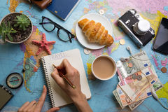 Plan del viaje Imagen de archivo