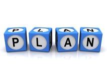 Plan in den Blöcken lizenzfreie abbildung