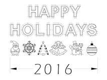 Plan der Feiertage 2016 - lokalisiert Stockbilder