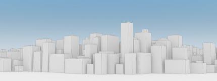 Plan der Stadt Stockfotos