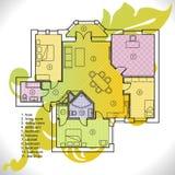 Plan der Wohnung Lizenzfreie Stockfotografie