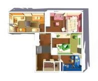 Plan der Wohnung Stockfotos