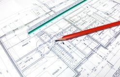 Plan des Architekten stockfotografie