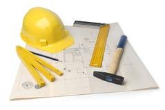 Plan des Architekten Lizenzfreies Stockbild