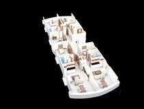 Plan des Fußbodens 3d Stockfotografie