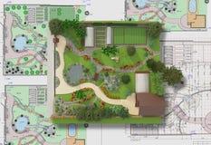 Plan des Gartenlandes Lizenzfreies Stockbild