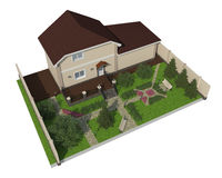 Plan des Gartenlandes Stockfoto