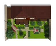 Plan des Gartenlandes Lizenzfreie Stockbilder