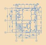 Plan des Hauses Stockfotografie