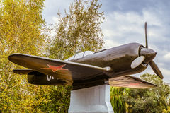 Plan des Kampfflugzeugs La-7 während des zweiten Weltkriegs Lizenzfreie Stockbilder