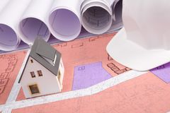 Plan des neuen Hauses Lizenzfreie Stockfotografie