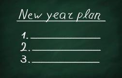 Plan des neuen Jahres Lizenzfreie Stockfotografie