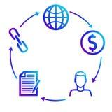 Plan des revenus sur des programmes de filiale d'associé vente illustration de vecteur