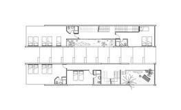 Plan des zweiten Stocks Stockfotografie