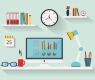 Plan design - arbetsplats stock illustrationer