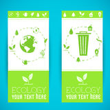 Plan design av ekologi, miljö, grön rengöring Royaltyfri Foto