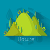 Plan design av ekologi, miljö, grön rengöring Royaltyfri Fotografi