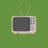 Plan design av retro tappningtelevision Fotografering för Bildbyråer