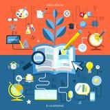 Plan design av utbildning och e-att lära Arkivfoton