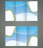 Plan-Design Broschüre des Vektors blaues, Geschäft drei Lizenzfreies Stockbild