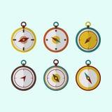 Plan design för kompasshandelsresandesymbol royaltyfri illustrationer