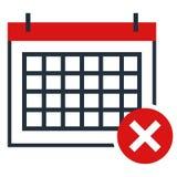 Plan design för rolig kalender symbol inte royaltyfri illustrationer