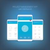 Plan designanvändargränssnitt för smart telefon eller royaltyfri illustrationer