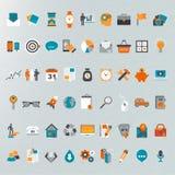 Plan designsymbolsuppsättning Stock Illustrationer
