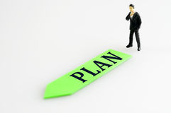 Plan direction and toy business man Stock Photo