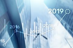2019 plan dla Pieniężnego przyrosta Biznesowy I Inwestorski pojęcie obraz royalty free