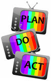 Plan do act. Concept image about \\\'plan do act\\\'-strategy in life and business Stock Images