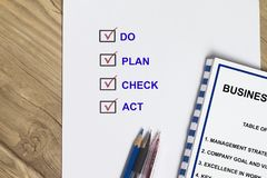 Plan do act check concept. Business management strategy Royalty Free Stock Images